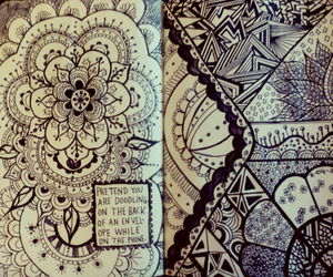 keri smith, lace, and wreck this journal image