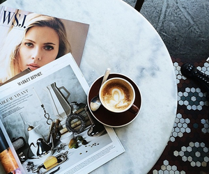 coffee, magazine, and vogue image