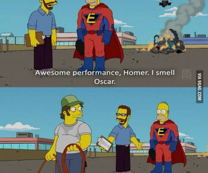 funny, oscar, and homer image