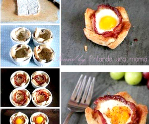 food, bacon, and bread image
