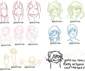 beautiful, tumblr, and drawing image