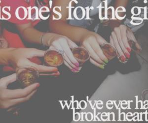 girl, Shots, and broken heart image
