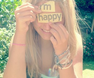 girl, happy, and blonde image