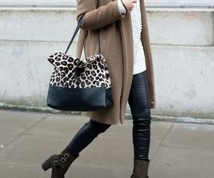 bag, brown, and fashion image