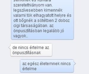 depressed, magyar, and szeretethiány image