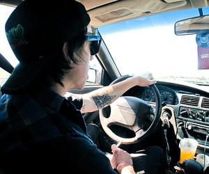boy, smoke, and car image