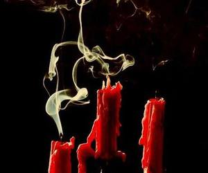 candle, red, and smoke image