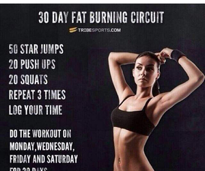 exercise, workout, and fat burning image