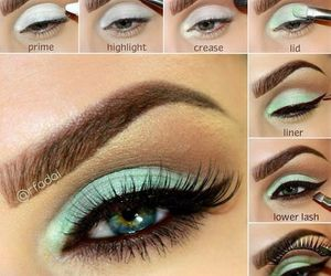makeup, eyes, and style image