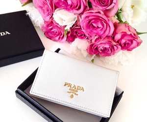 Prada, rose, and flowers image