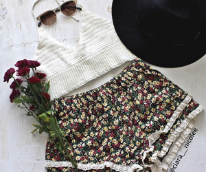 floral, lace, and ootd image