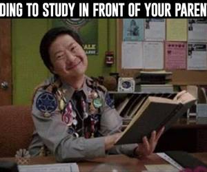 funny, parents, and study image