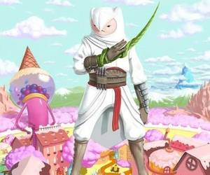 finn, assassin's creed, and adventure time image