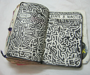book, draw, and wreck this journal image