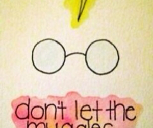 harry potter, muggles, and glasses image
