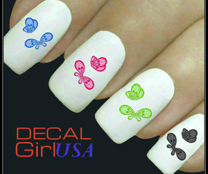 manicure, nail art, and nail decals image