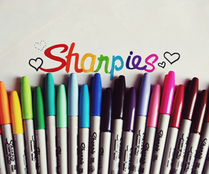sharpies, colors, and colorful image
