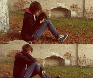 puppy, cute, and emo boy image