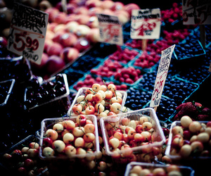 berries, farmers market, and blue image