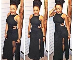 black woman, fashion, and lbd image