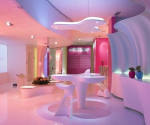 color, pink, and room image