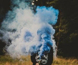 blue, smoke, and boy image