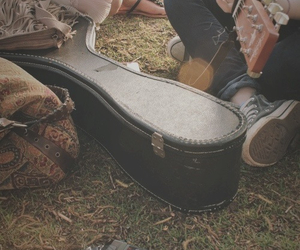 guitar, music, and couple image