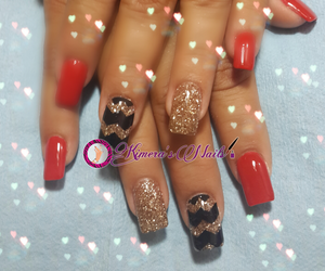 color, glitter, and nails image