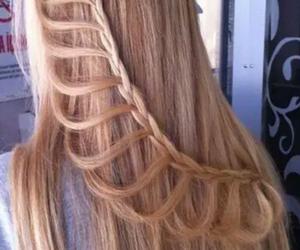 hair, beautiful, and braid image