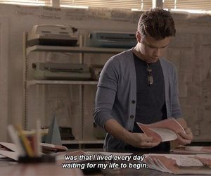 quote, chris colfer, and struck by lightning image