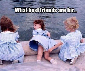 best friend, dress, and fun image