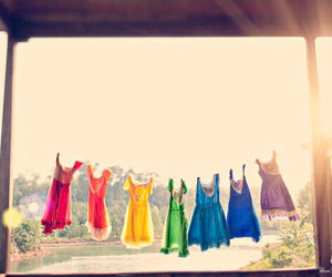 dress, rainbow, and colors image