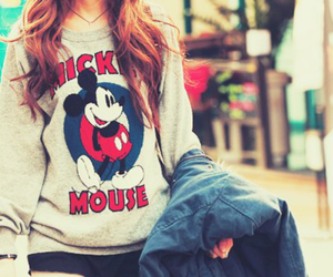 mickey mouse, mickey, and sweater image