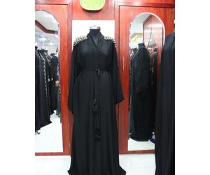 women's fashion, fancy abaya, and arabic style abaya image