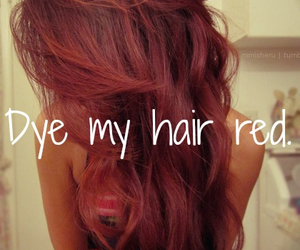 hair, dye, and red image