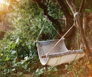 hammock, nature, and summer image