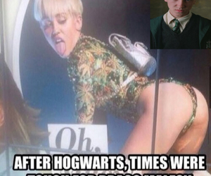 miley cyrus, harry potter, and draco malfoy image