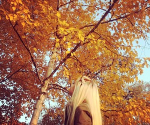 autumn, blonde, and beauty image