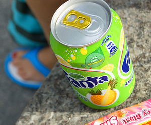 fanta, drink, and green image