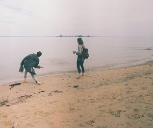 couple, sea, and friends image