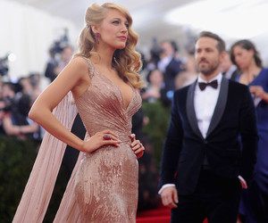 blake lively, ryan reynolds, and dress image