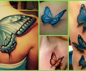3d, mariposa, and tatuaje image