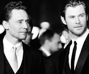 chris hemsworth, thor, and tom hiddleston image