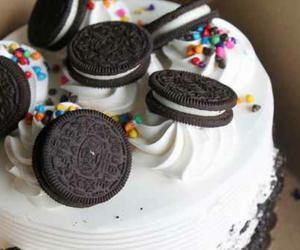 cake, chocolate cake, and oreo image