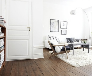 home, interior, and white image