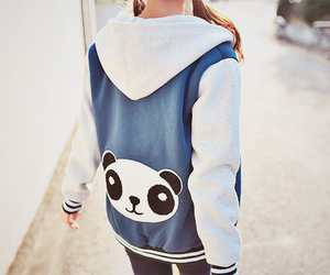 panda, jacket, and kfashion image