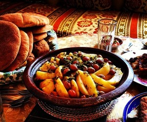 food, moroccan, and tajine image