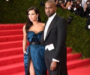 kanye west, kim kardashian, and dress image