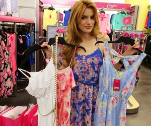 bella thorne, dresses, and pink image