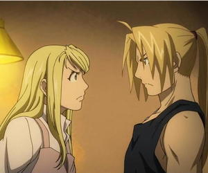edward elric, winry rockbell, and fullmetal alchemist image